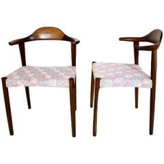Pair of Bull Horn Chair by Harry Østergaard for Randers Møbelfabrik Teak