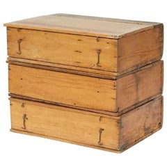 Early 20th Century Collection of Wooden Ledger Book/Boxes from Argentina