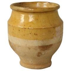 Tres Petite French Mustard Glazed Pottery Confit Pot