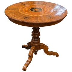 Late 19th Century Southern Italian Walnut Center Table