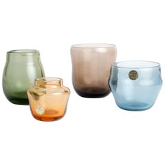 Set of Four Verval Vallauris Glass Vessels
