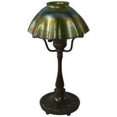 Signed Tiffany LCT Favrile Glass Table Lamp