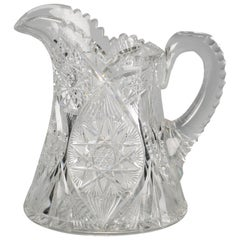 American Brilliant Cut Glass Pitcher, circa 1900