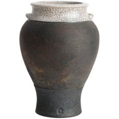 Classically Shaped Crackle Glaze Vase