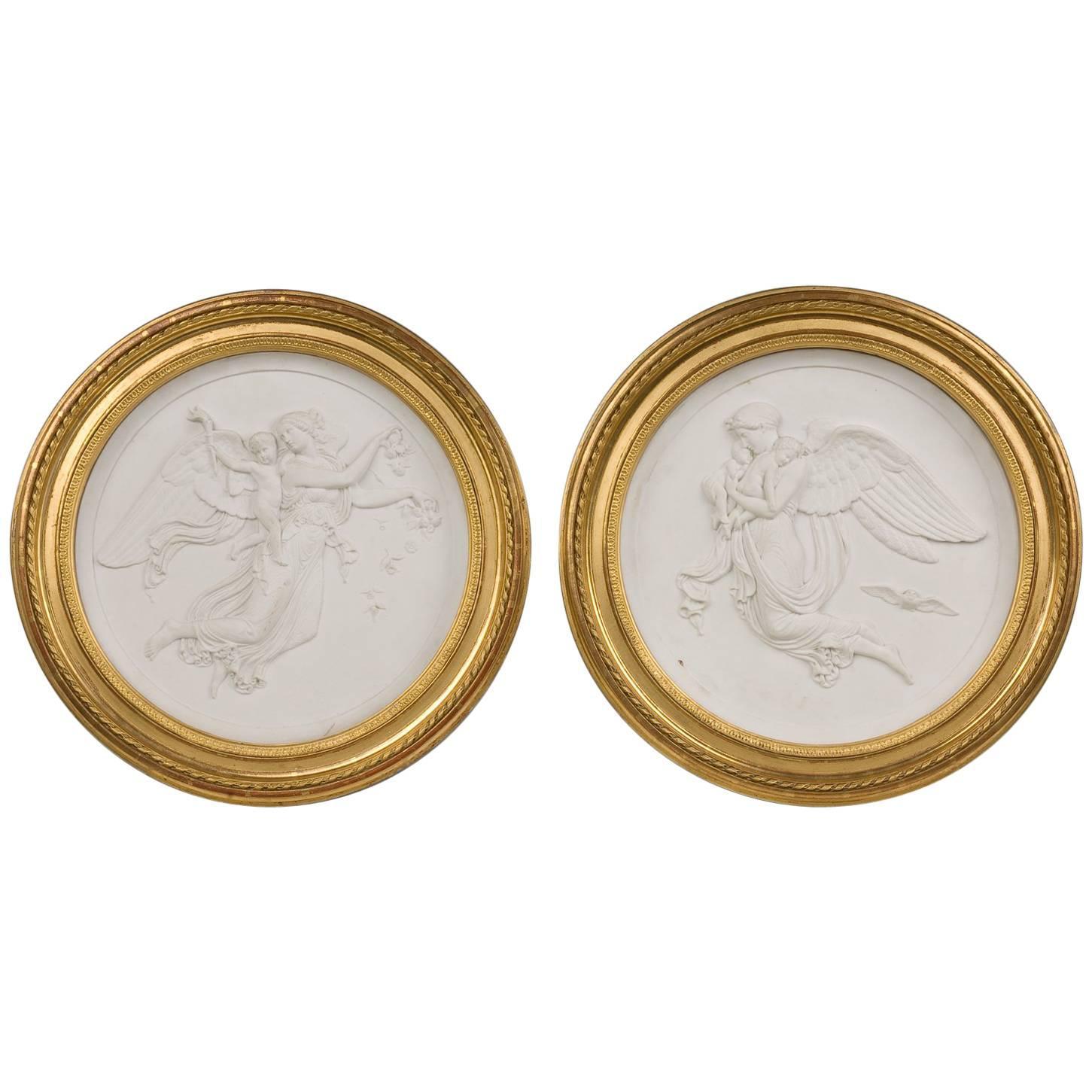 Antique Biscuit Medallions, 19th Century
