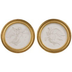 Antique Biscuit Medallions, 19th Century