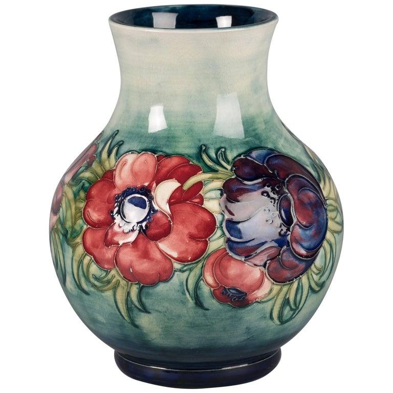 Moorcroft Pottery Big Poppy Vase For Sale At 1stdibs