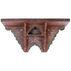 Painted Moroccan Wall Shelf
