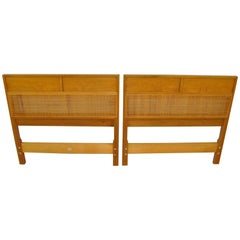 Pair of Mid-Century Modern Mahogany Twin Size Headboards by Baker Furniture