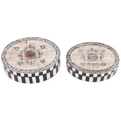 Pair of Asian Lidded Boxes