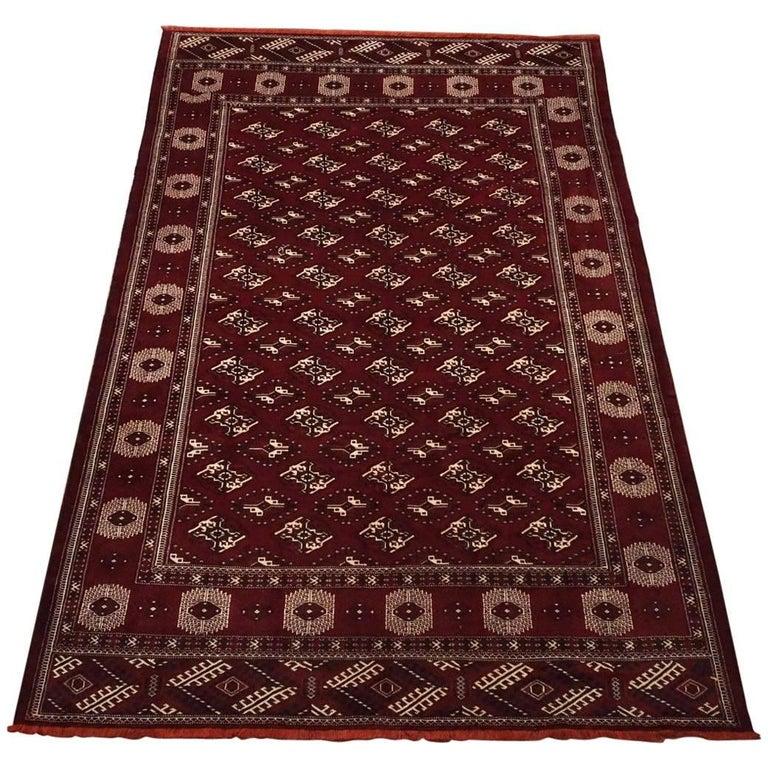 1960s Vintage Turkoman Bukhara Rug For Sale At 1stdibs