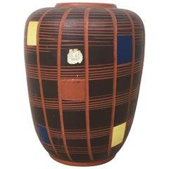 Vintage 1960s Cubic Ceramic Pottery Vase by Hükli Ceramic, Germany