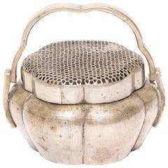 Chinese Brass Gourd Form Brazier