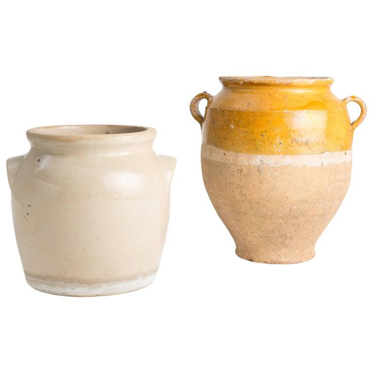 Pair of Provincial European Ceramic Vessels