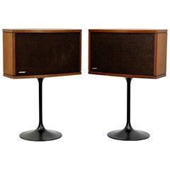 Mid-Century Modern Pair of Bose Speakers on Eero Saarinen Tulip Bases, 1970s