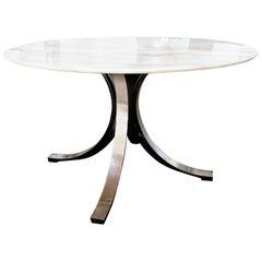 Osvaldo Borsani and Eugenio Gerli Table with Original Onyx Top for Tecno