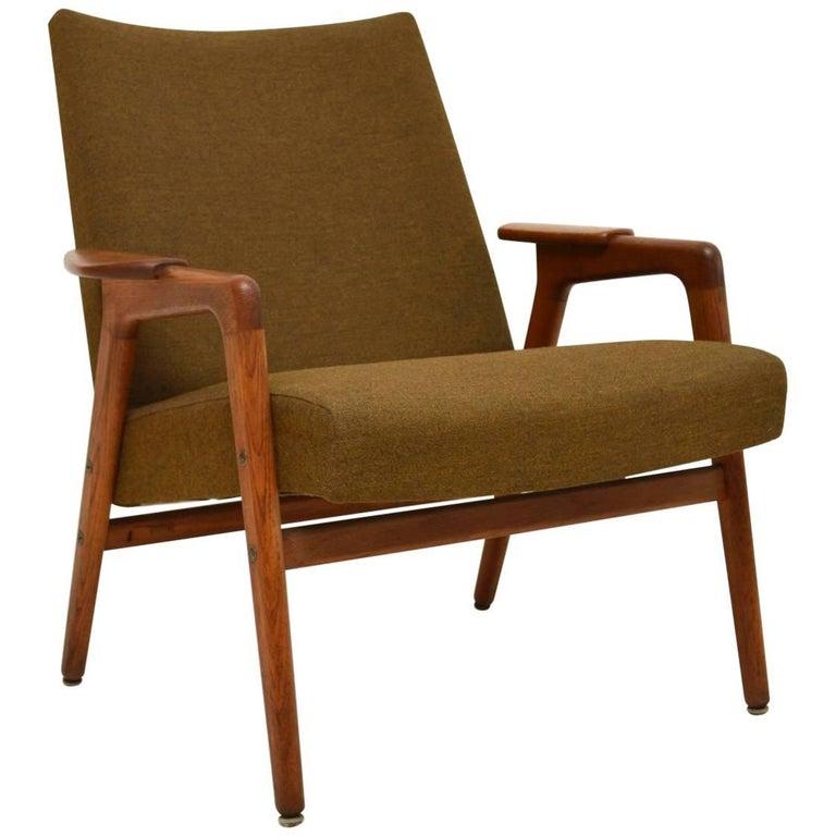 1960s Swedish Vintage Teak Armchair by Yngve Ekstrom