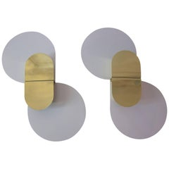 Pia Guidetti Crippa, Pair of Sconces, Lumi Edition, circa 1970, Italy