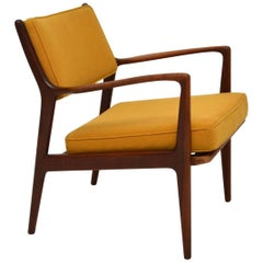 1960s, Swedish Vintage Teak Armchair by Karl-Erik Ekselius