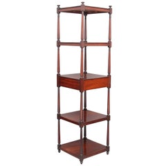 Early 19th Century Mahogany Five-Tier Whatnot