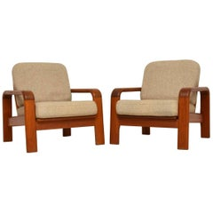 1960s Pair of Vintage Danish Teak Armchairs