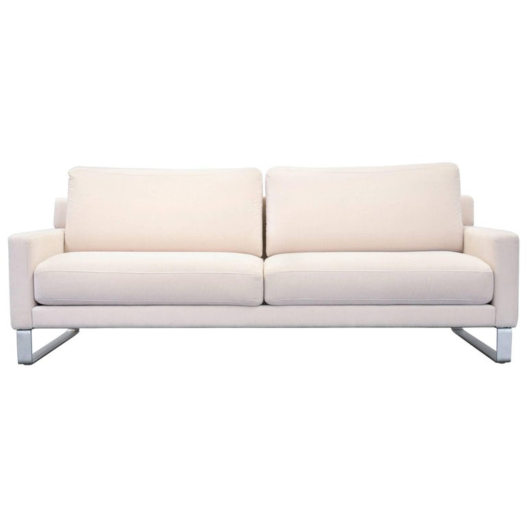 rolf benz ego designer sofa fabric beige three seat couch modern for sale at 1stdibs. Black Bedroom Furniture Sets. Home Design Ideas