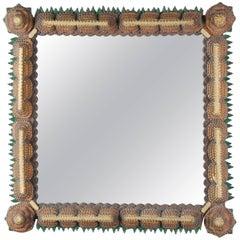 Early 20th Century Tramp Art Mirror