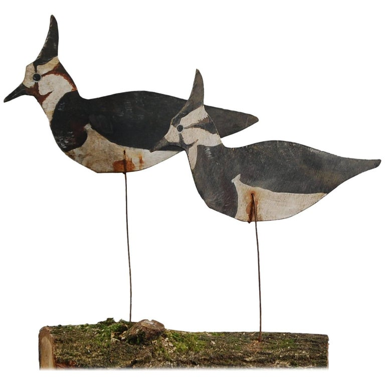 Pair of Working Silhouette Lapwing Decoys
