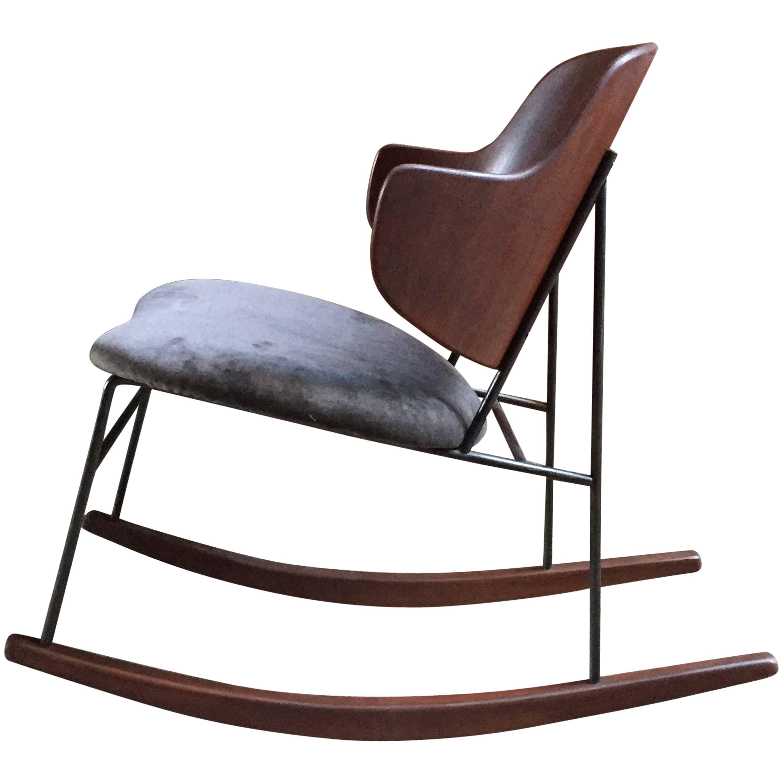 Ib Kofod Larsen Penguin Rocking Chair
