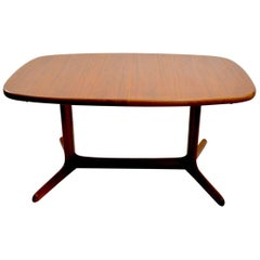 Teak Danish Dining Table with Two Leaves