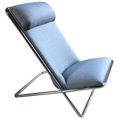 Ward Bennett for Brickel Associates Chrome Scissor Chair