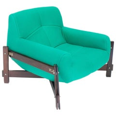 Brazilian Rosewood MP-29 Armchair with Twill Upholstery by Percival Lafer