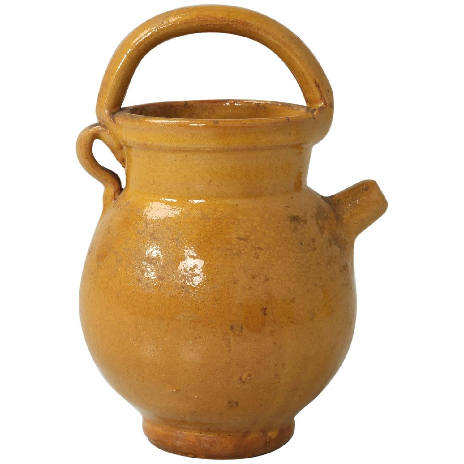 Early 20th century pottery 151 for sale at 1stdibs petite antique french pottery jug with handle and spout reviewsmspy