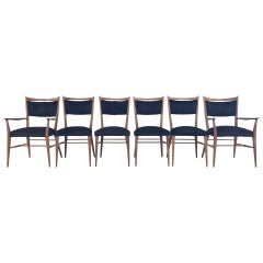 Paul McCobb for Directional Dining Chairs in Brazilian Cowhide, Set of Six