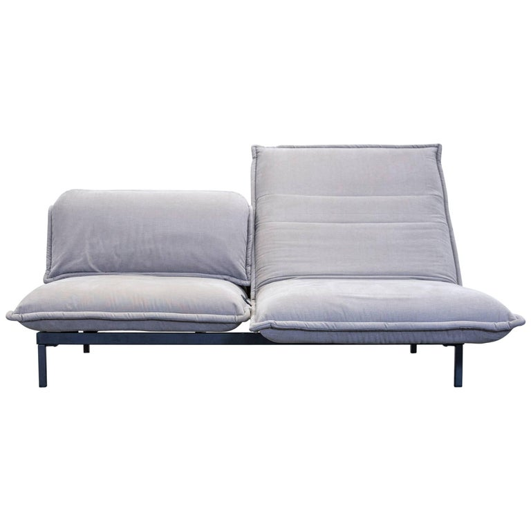 rolf benz nova designer sofa grey fabric two seat function. Black Bedroom Furniture Sets. Home Design Ideas