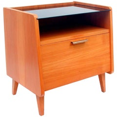 Mid-Century Modern German Teak and Glass Chest, 1950s