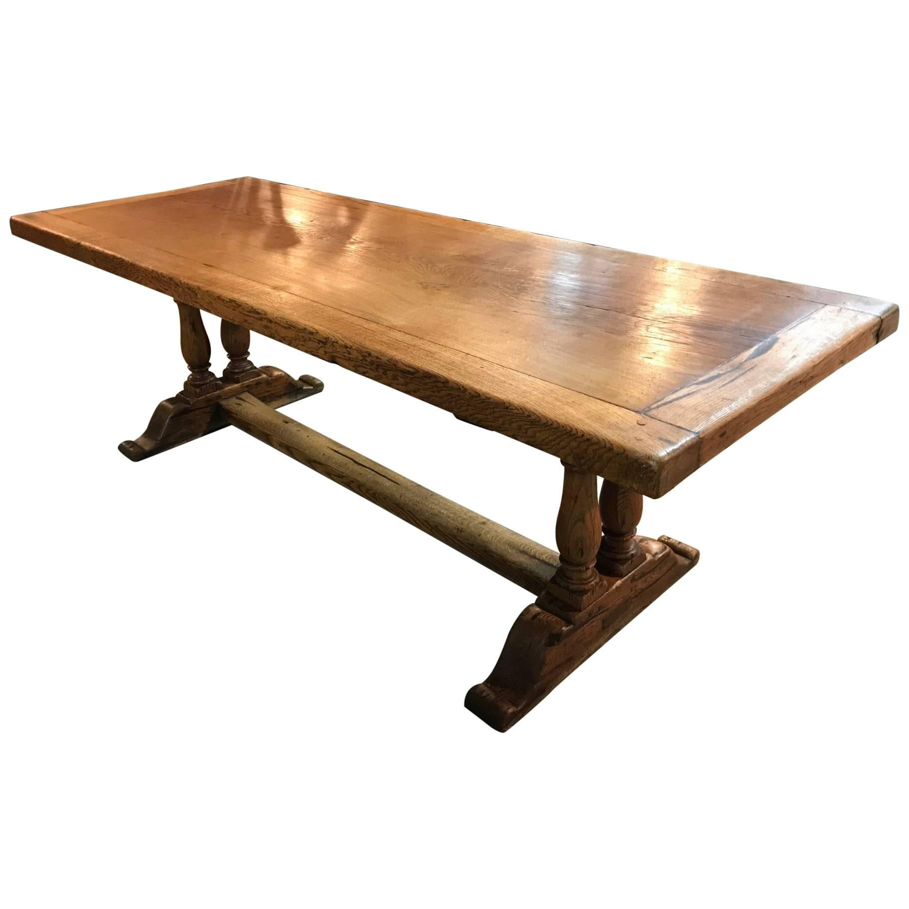 French Farm Table Or Trestle Table