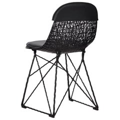 Moooi Carbon Fiber Dining Chair with Seat Pad and Cap