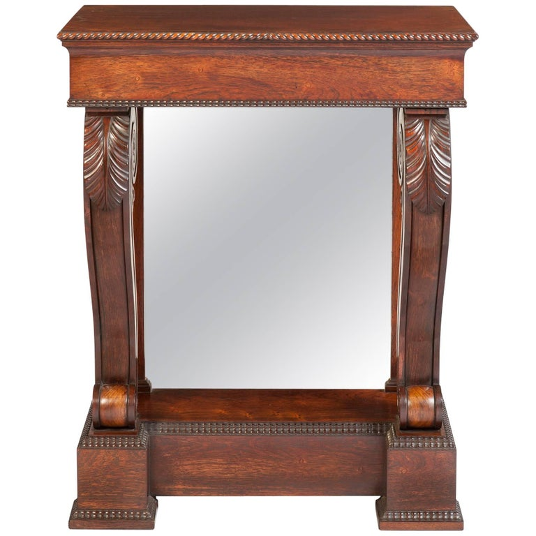 Regency Rosewood Console Hall Table For Sale