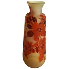 Art Nouveau Emile Galle Apple Blossom Vase