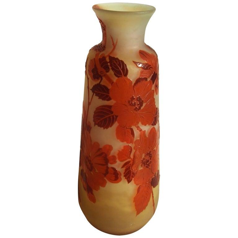 Art Nouveau Emile Galle Apple Blossom Vase