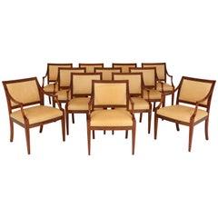 12 Frits Henningsen Open Armchairs, circa 1940s