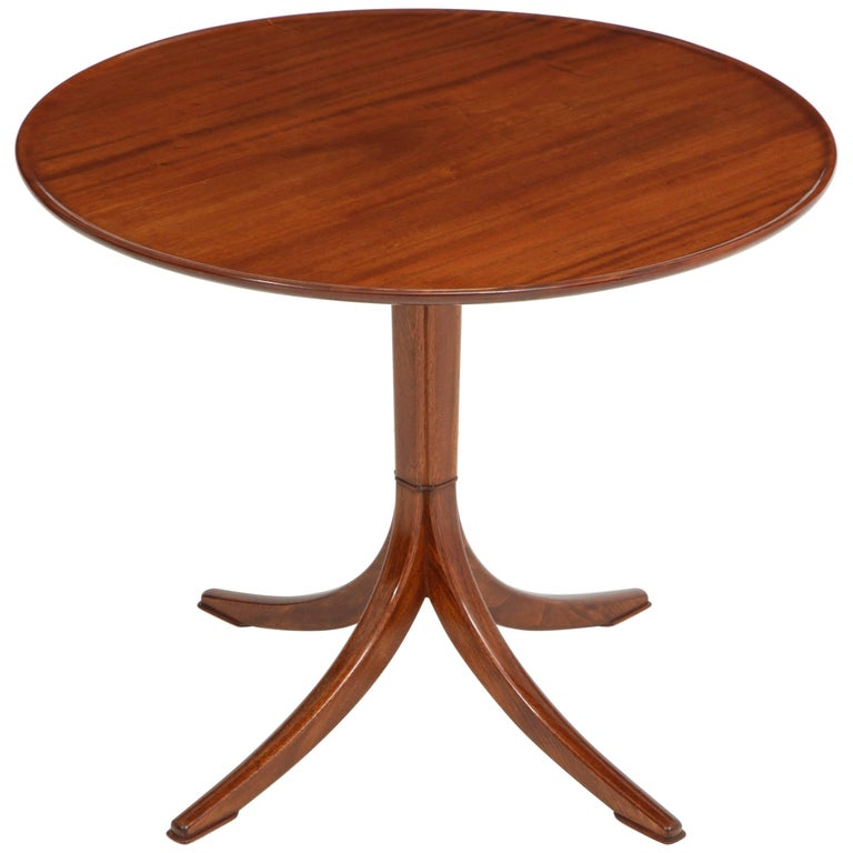 Scandinavian Modern Frits Henningsen Mahogany Side Table, circa 1940s