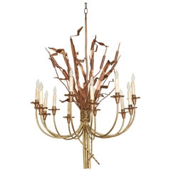 Neoclassic Cattail Chandelier