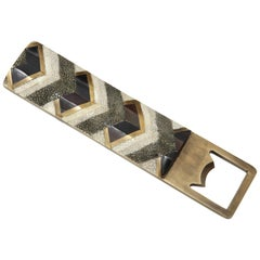 Shagreen Bottle Opener with Bronze Details Offered by Area ID
