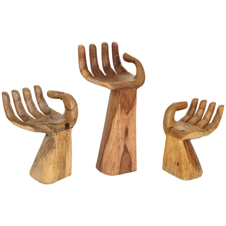 "Set of Friedberg Style ""Hand"" Stools"
