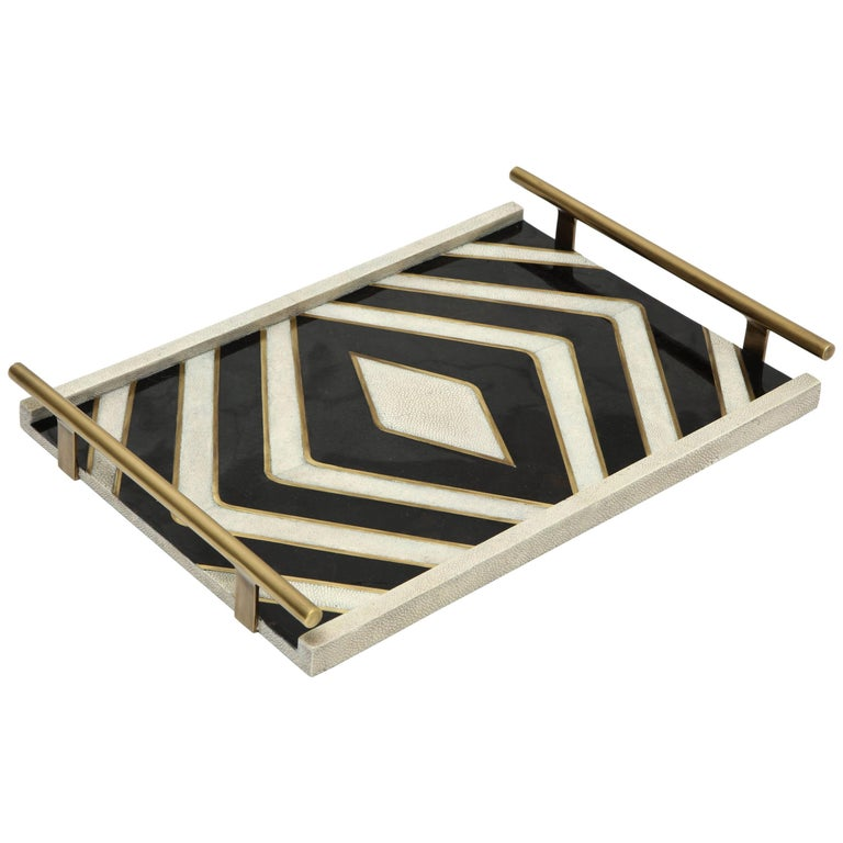 Shagreen Tray Offered by Area ID For Sale