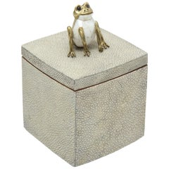 Shagreen Box with Decorative Frog Offered by Area ID