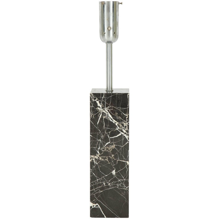 Large Marble Lamp by Nessen 1