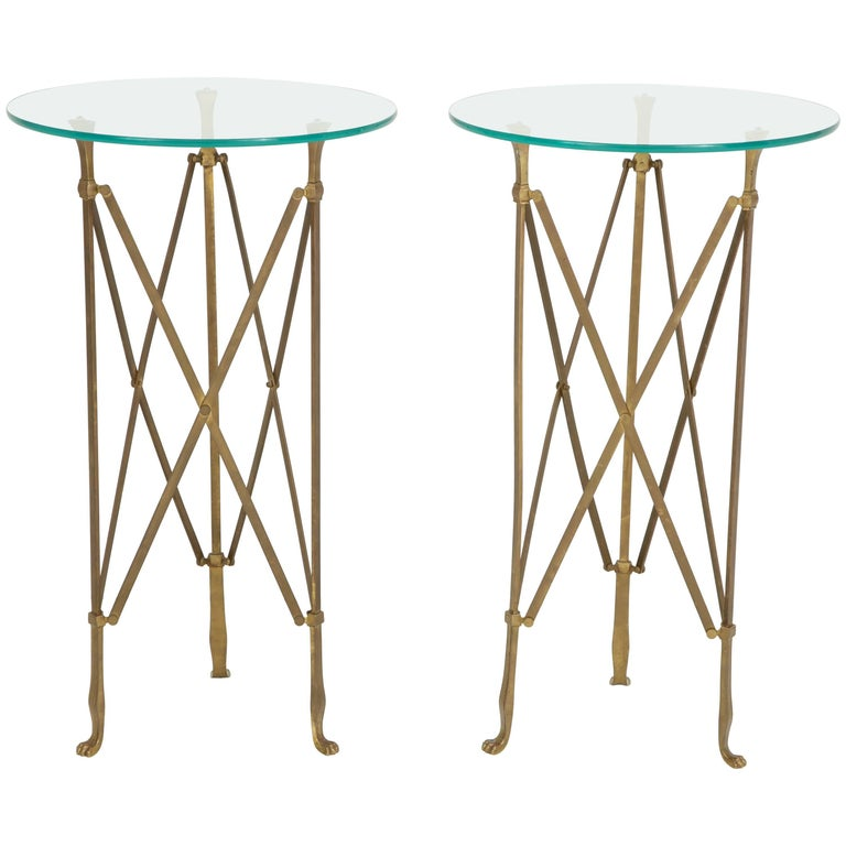 Pair of Neoclassical Side Tables Attributed to Jansen